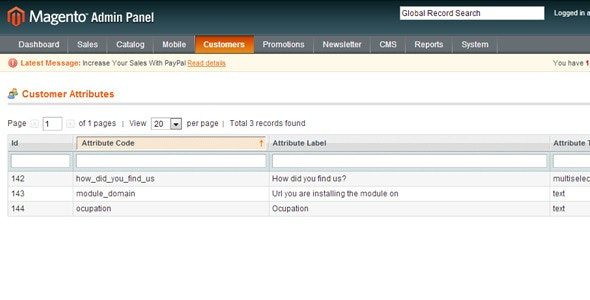 Magento Customer Attributes Extension - CodeCanyon Item for Sale