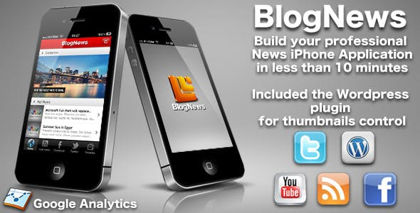 BlogNews - iPhone blog app - Wordpress editions