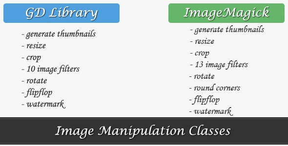 Image Manipulation Class - CodeCanyon Item for Sale