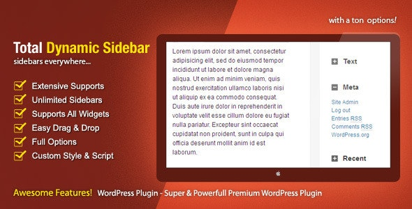 Total Dynamic Sidebar - CodeCanyon Item for Sale