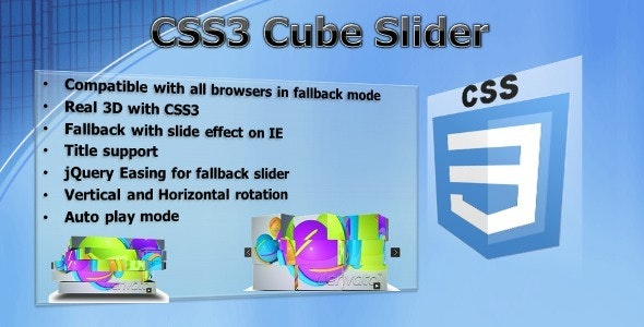 CSS3 Cube Slider - jQuery 3D slider - CodeCanyon Item for Sale