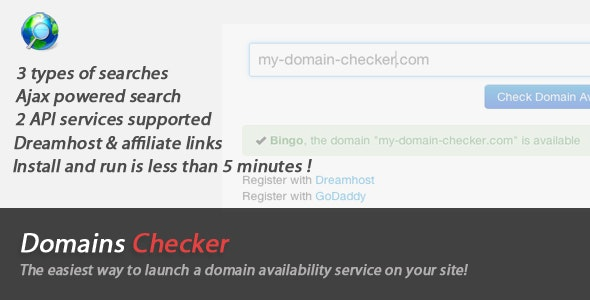 Domains Names Checker - CodeCanyon Item for Sale
