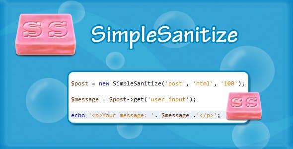 Simple Sanitize