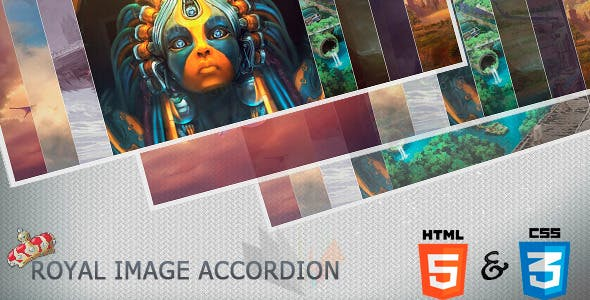 CSS3 Royal Image Accordion