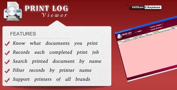 Printer Log Viewer - CodeCanyon Item for Sale
