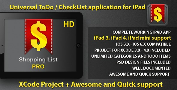 Universal Task Manager for iPad - CodeCanyon Item for Sale