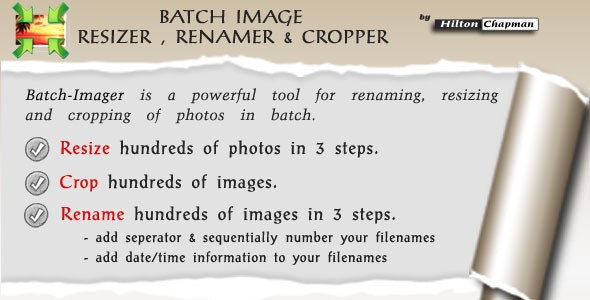 Batch Image Renamer And Image Resizer - CodeCanyon Item for Sale