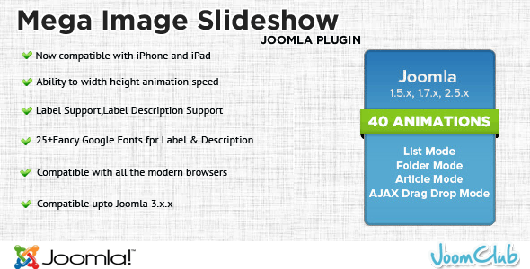 Mega Slideshow - Premium Image Slider for Joomla