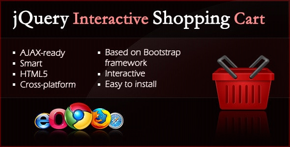 jQuery Interactive Shopping Cart - CodeCanyon Item for Sale
