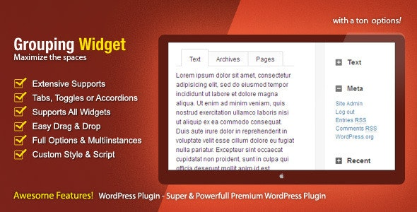 Grouping Widget - CodeCanyon Item for Sale