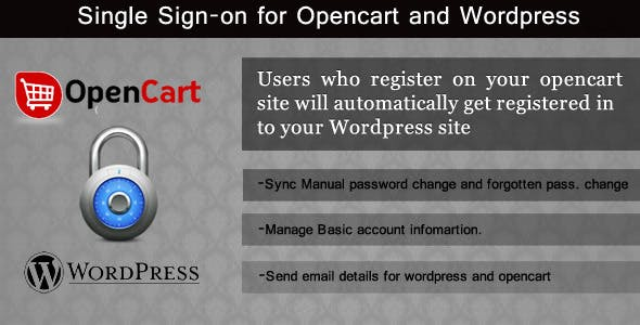 Single Sign-on for opencart and wordpress