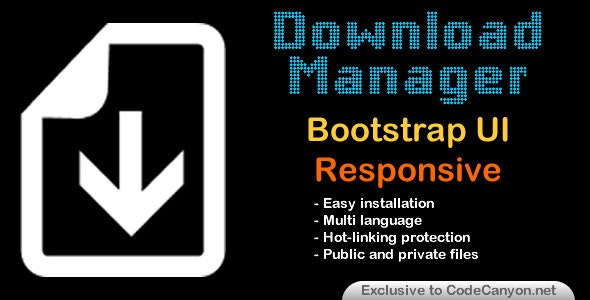 Download Manager Responsive Bootstrap UI - CodeCanyon Item for Sale