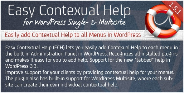 Easy Contextual Help for WordPress - CodeCanyon Item for Sale