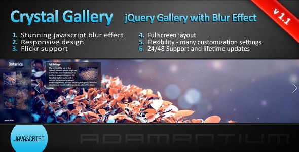 Crystal Gallery - jQuery Gallery with Blur Effect by adamantium