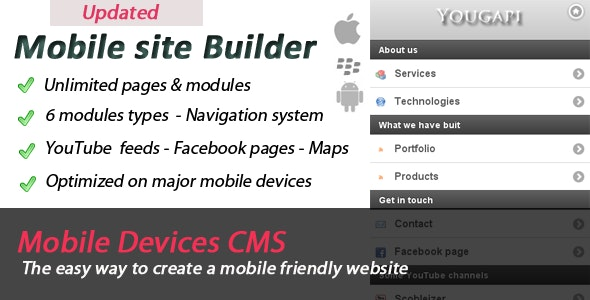 Mobile Site Builder - CodeCanyon Item for Sale