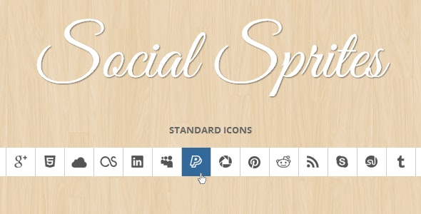 Social Sprites Icons - CodeCanyon Item for Sale