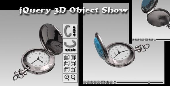 jQuery 3D Object Show