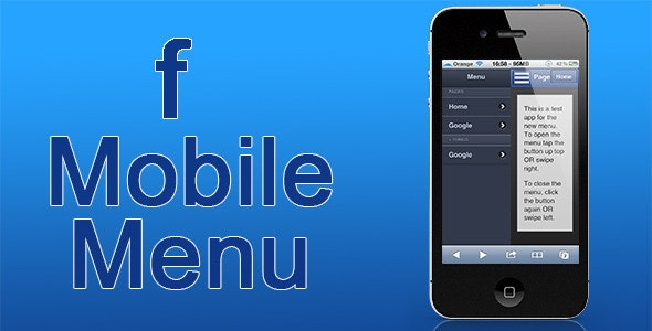 Facebook Inspired Mobile Menu  - CodeCanyon Item for Sale