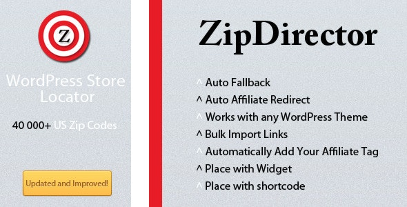 WordPress Store Locator ZipDirector - CodeCanyon Item for Sale