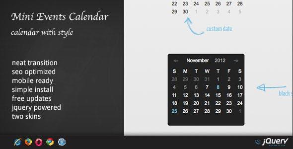 DZS jQuery Mini Events Calendar        Nulled