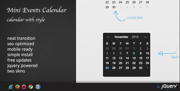 DZS jQuery Mini Events Calendar by ZoomIt | CodeCanyon