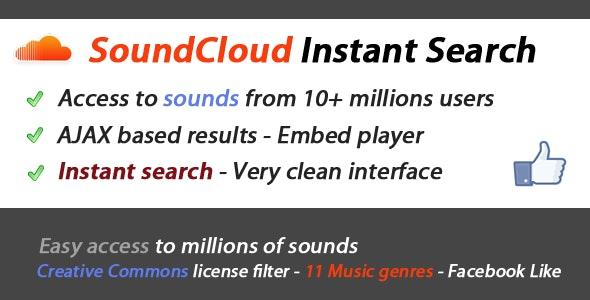 SoundCloud Search & API Integration - CodeCanyon Item for Sale
