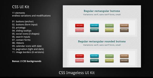 Massive CSS Imageless Responsive UI Kit. + Bonus