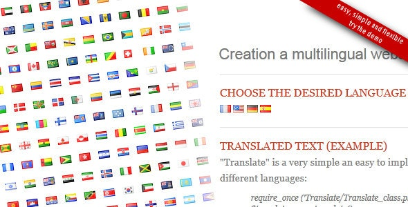 Translate PHP class - CodeCanyon Item for Sale