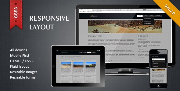 Responsive HTML5/CSS3 Layout - CodeCanyon Item for Sale