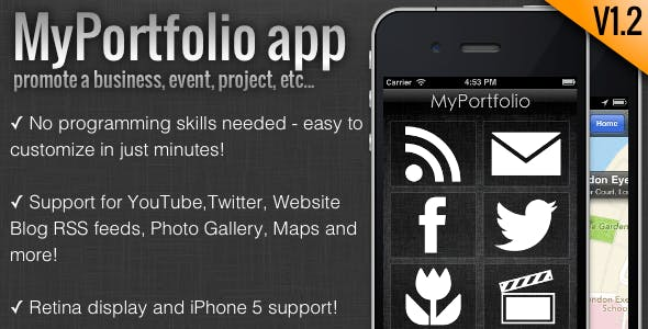 MyPortfolio - promote a business, event, etc...