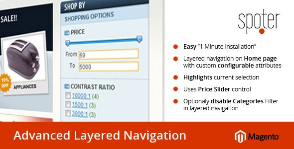 Advanced Layered Navigation Extension for Magento - CodeCanyon Item for Sale