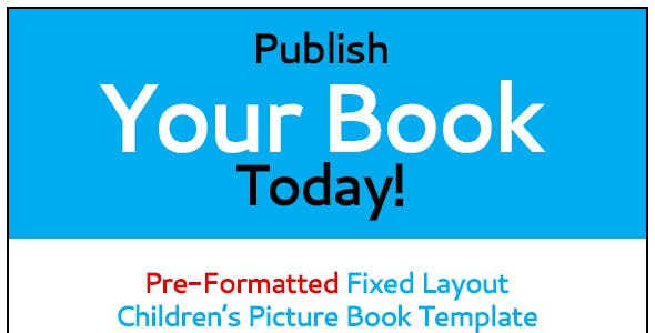 KF8-Fixed Layout Children's Picture Book Template