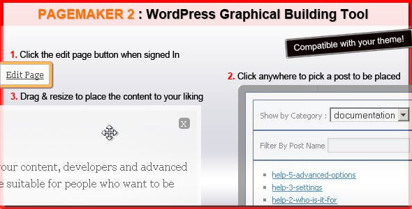 Pagemaker 2 : Live editing in your theme
