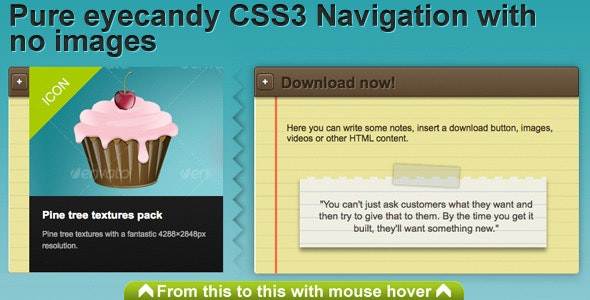 CSS3 Sliding Navigation - CodeCanyon Item for Sale