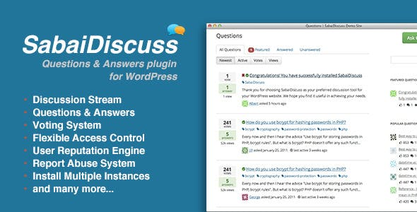 Sabai Discuss -  Q&A forum plugin for WordPress
