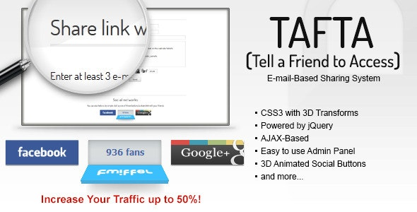 TAFTA — Tell a Friend to Access - CodeCanyon Item for Sale