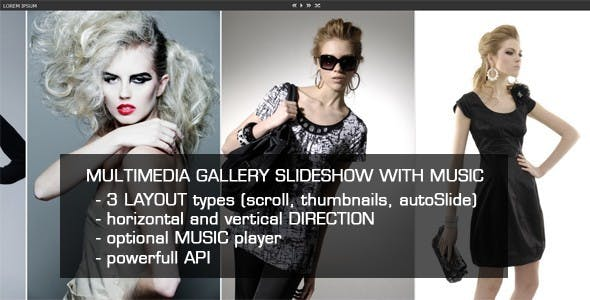 Jquery Multimedia Gallery Slideshow with Music