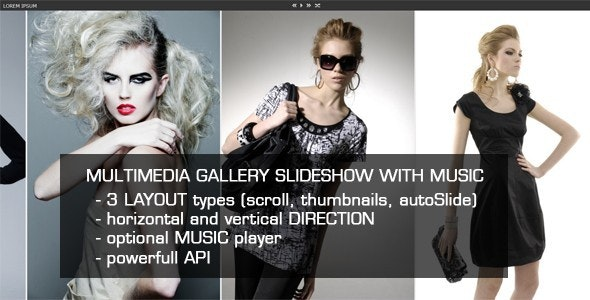 Jquery Multimedia Gallery Slideshow with Music - CodeCanyon Item for Sale