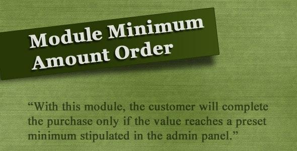 Module Minimum Amount Order (vQmod) - CodeCanyon Item for Sale