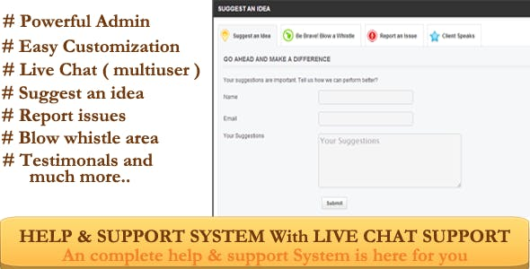 Live Help & Support System