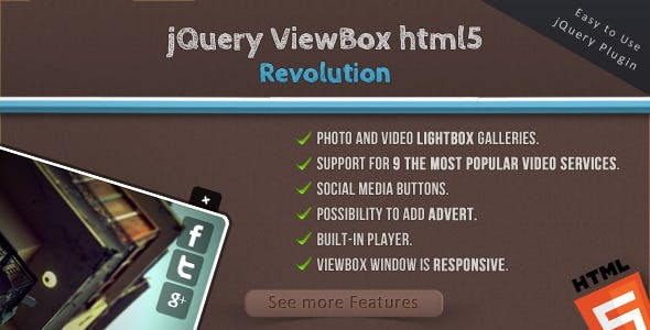 jQuery ViewBox HTML5 Revolution - Media Browser