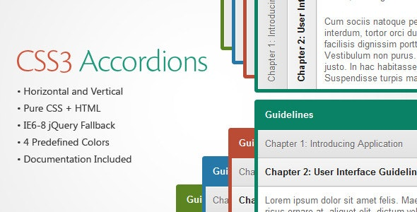 CSS3 Accordions - CodeCanyon Item for Sale