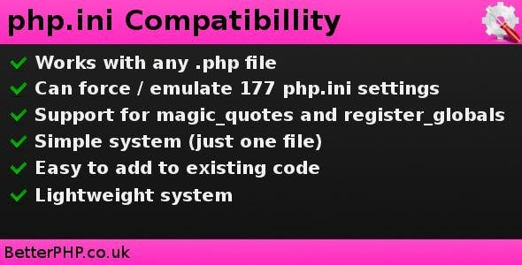 php.ini Compatibility