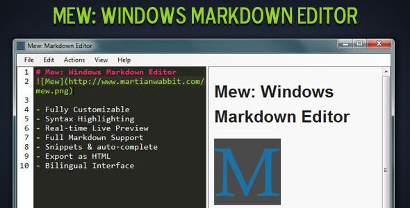 Mew: Windows Markdown Editor