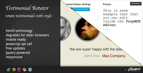 DZS WordPress Testimonial Rotator