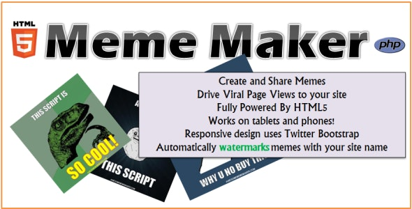 HTML5 Meme Maker - CodeCanyon Item for Sale