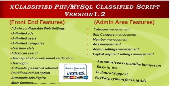 xClassified PHP/MySql Classified Script - CodeCanyon Item for Sale