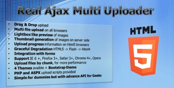 Real Ajax Multi Uploader by albanx | CodeCanyon