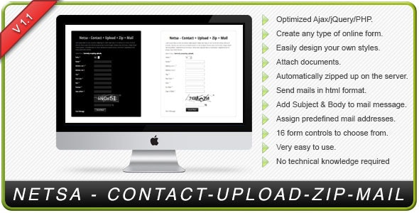 NETSA - Contact Upload Zip  Mail - CodeCanyon Item for Sale