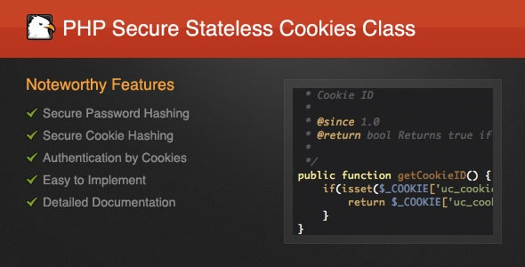 PHP Secure Stateless Cookies Class - CodeCanyon Item for Sale